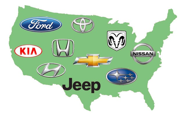 Các thương hiệu xe Mỹ nổi tiếng thế giới